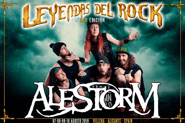 Alestorm se suma al cartel de Leyendas del Rock 2019.