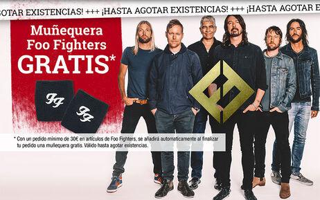 Muñequera Foo Fighters GRATIS