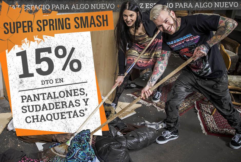15% dto en PANTALONES, SUDADERAS Y CHAQUETAS