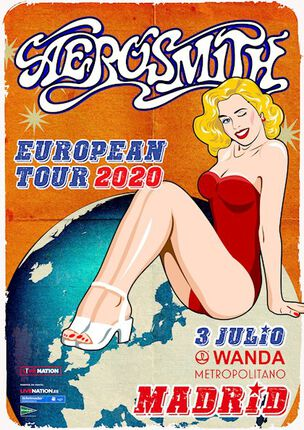 AEROSMITH. Verlos en Madrid desde 50€ hasta 1500€ más gastos.