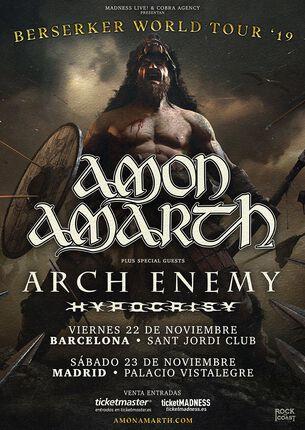 ARCH ENEMY + HYPOCRISY se unen a la gira de AMON AMARTH.