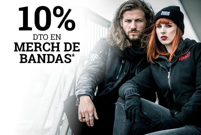 10% dto en MERCH DE BANDAS