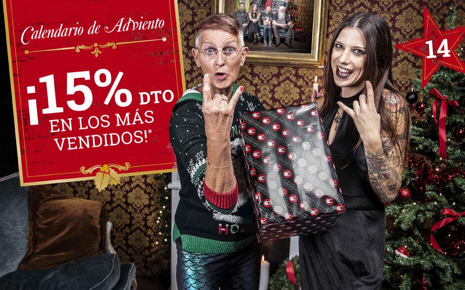 ¡15% dto en los más vendidos!
