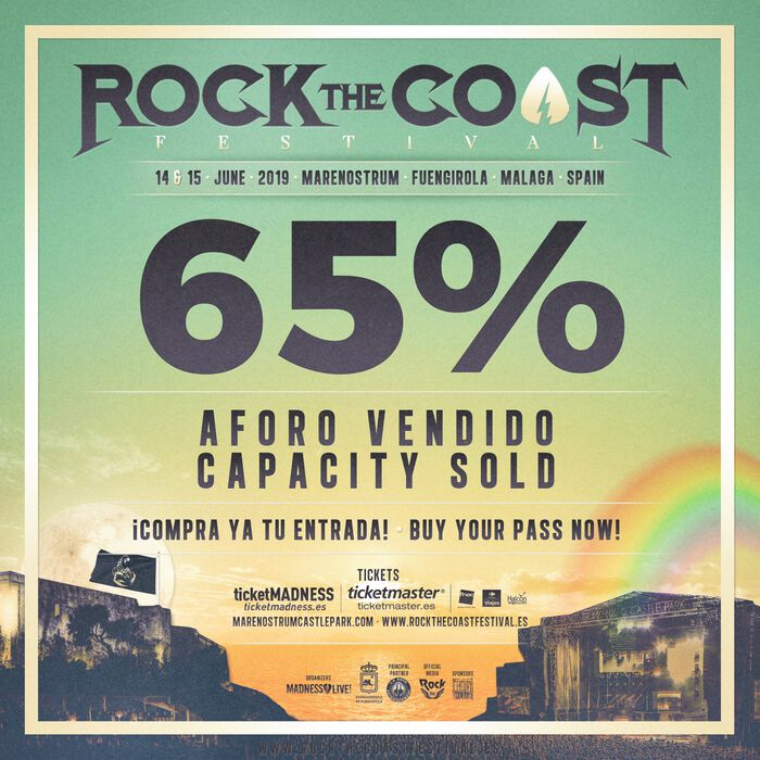 ROCK THE COAST FESTIVAL VENDE EL 65% DEL AFORO