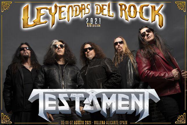 TESTAMENT cabeza de cartel LEYENDAS DEL ROCK 2021