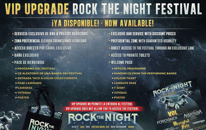 VIP UPGRADE ROCK THE NIGHT FESTIVAL