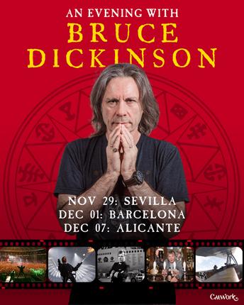 BRUCE DICKINSON GIRA DE TEATROS POR ESPAÑA.