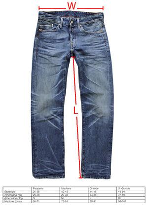 ¿Que significan las iniciales W y L en las tallas de los pantalones?