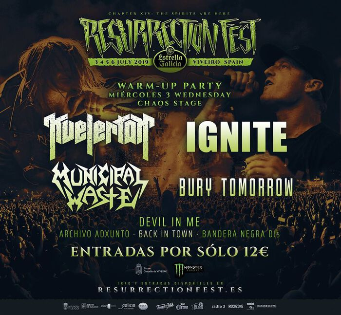 RESURRECTION FEST ESTRELLA GALICIA 2019: WARM-UP POSTER