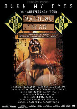 MACHINE HEAD. 7 FECHAS EN ESPAÑA.