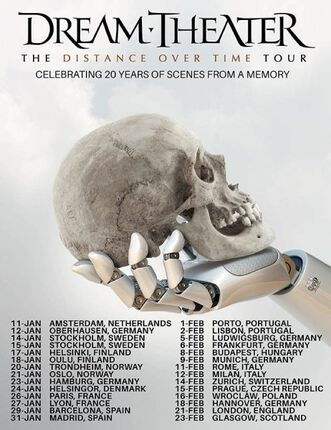 DREAM THEATER gira europea 2020. MADRID Y BARCELONA.