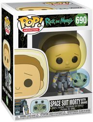 Figura Vinilo Season 4 - Space Suit Morty With Snake 690