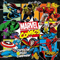 2021 Calendario pared  - Comics Classic
