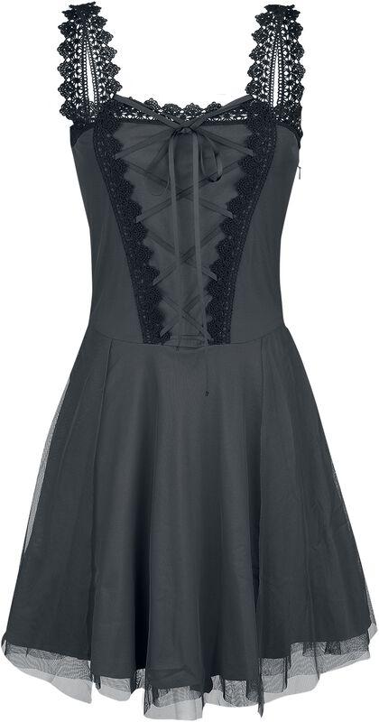 Vestido corto de Gothicana con encaje y cordón