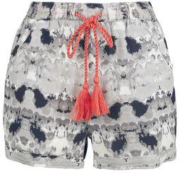 RED X CHIEMSEE - Shorts Batik blanco/negro