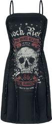 Vestido corto de Rock Rebel con cordón