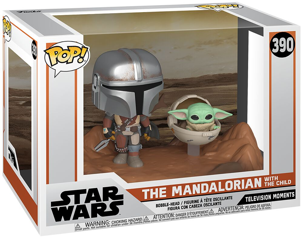 Figura vinilo The Mandalorian - The Mandalorian with The Child (Movie Moments) 390