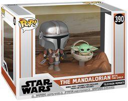 Figura vinilo The Mandalorian - The Mandalorian with The Child (Movie Moments) 390