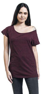 Camiseta morada con efecto melange