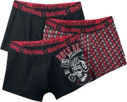 Boxers negros con estampado