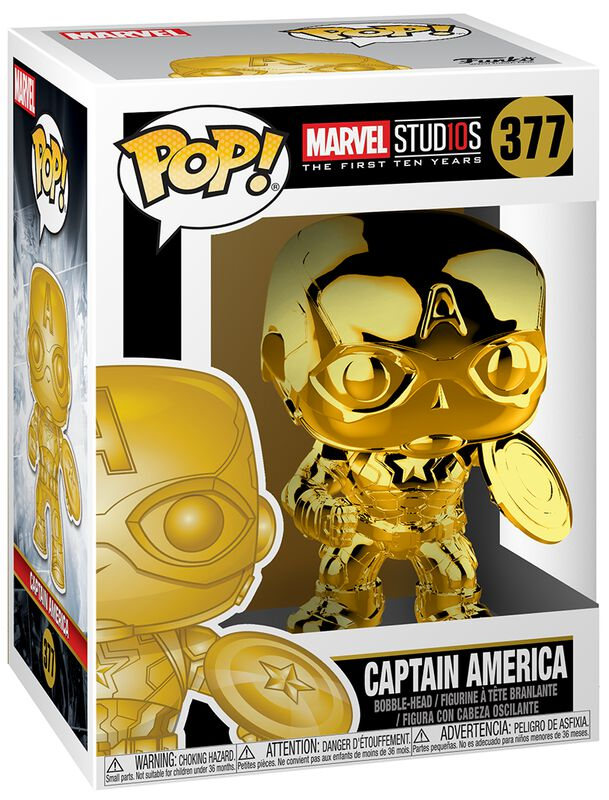 Figura Vinilo Marvel Studios 10 - Captain America (Chrome) 377