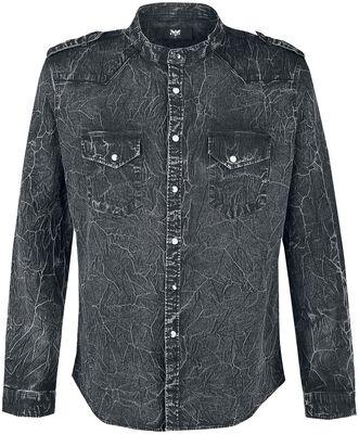 Dark Grey Shirt with Wash and Shoulder Tabs