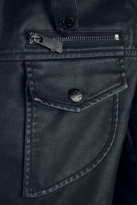 Chaqueta de piel artificial negra