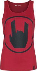 Top rojo con logo de EMP