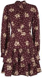Floral Dot Print Tiered