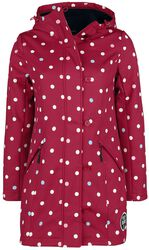 White Dots Softshell Girl red