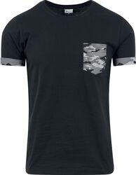 Camiseta con Bolsillo Camuflaje