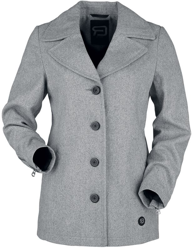 Short Grey Button-Up
