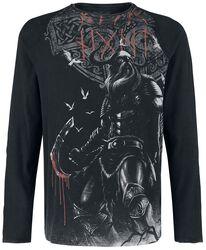 Camisa de manga larga con estampado vikingo