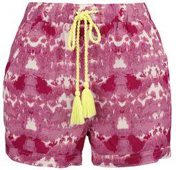 RED X CHIEMSEE - Pantalón corto blanco/rojo batik