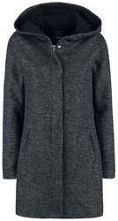 Long Melange Sweat Coat