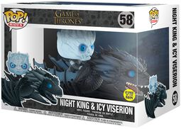 Figura Vinilo Night King & Icy Viserion POP Rides 58