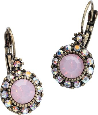Antique Round Stone Earring