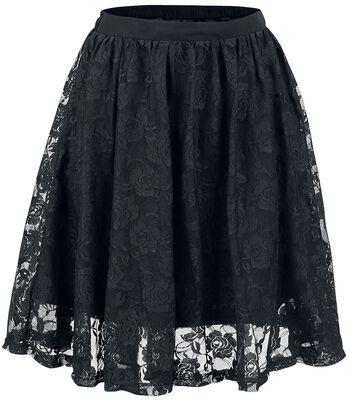 Falda cubierta de encaje