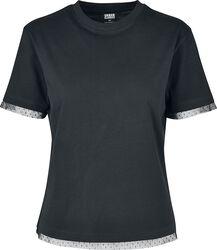 Camiseta mujer con encaje en mangas