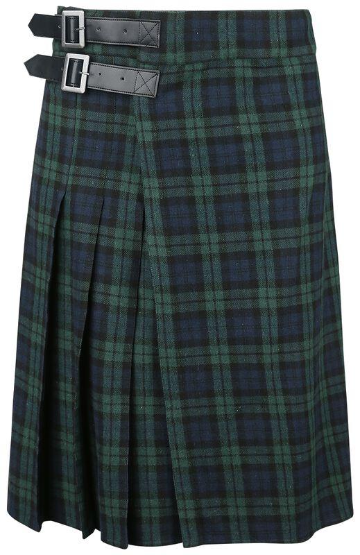 Kilt azul/verde con hebillas laterales
