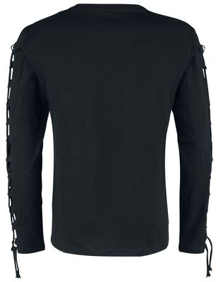 Longsleeve with front print and arm lacing