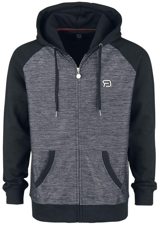 Chaqueta con capucha gris/negro