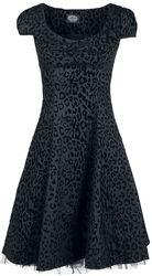 Arianna Black Leopard Flocked Day