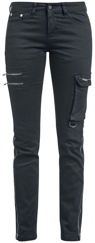 Skarlett - Black Jeans with Variable Hem