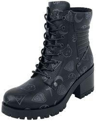 Botas negras con diseño Occult Symbols