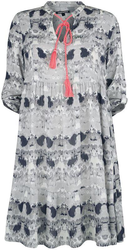 RED X CHIEMSEE - Vestido batik blanco/negro