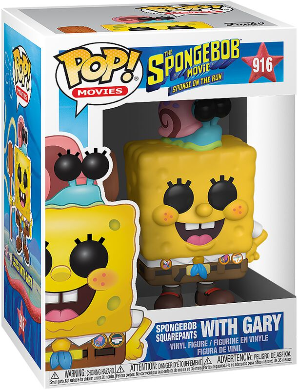 3 - Figura Vinilo Spongebob with Gary 916