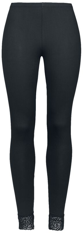 Leggings negros con encaje de Black Premium