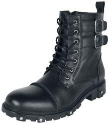 Botas negras con cordones y correas