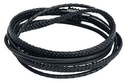 Black Trio Braided Leather